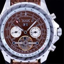 Лучший Подарок JARAGAR Часы Тахометр Tourbillon Автоматическая Дата Циферблат Reloj Hombre Мужские Часы Лучший Бренд Класса Люкс Мужчины Платье Часы