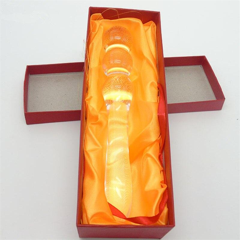 Clear Glass Butt Plug