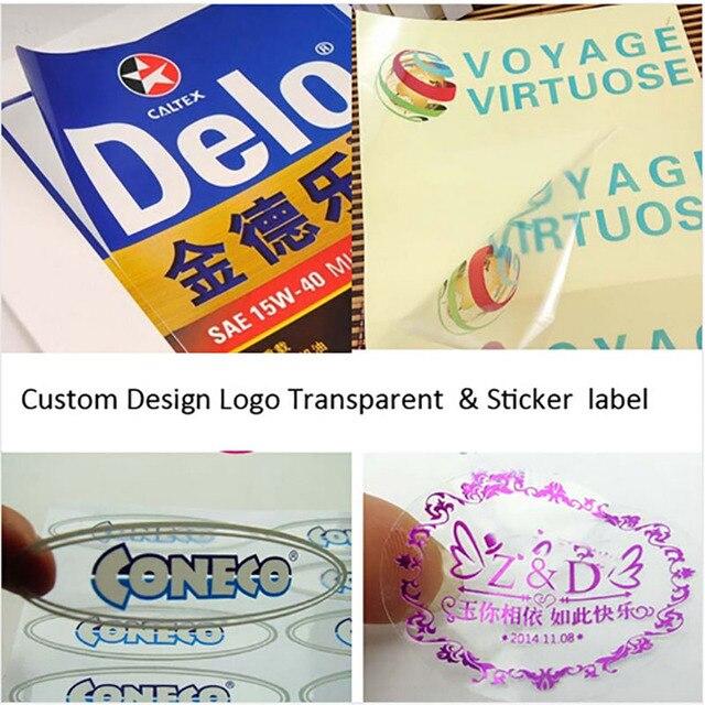 1810mm custom logo brand print wedding adesivos stickers labels plastic pvc transparent clear oval