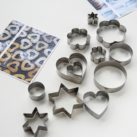 free shipping mold four styles three size total 12pcs stainless steel baking tools for cakes cookie cutter diner