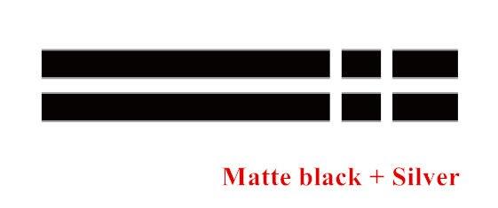 Автомобильный капот крышка двигателя виниловая наклейка авто задний багажник линии наклейки на капот Спорт полоса для Mini Coopers F54 F55 F56 R56 R57 R58 - Название цвета: Matte black-silver