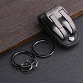 milesi brand men waist hung metal car keychain llaveros for belt slider key holder Trinket keyring chaveiro porte clef K0126