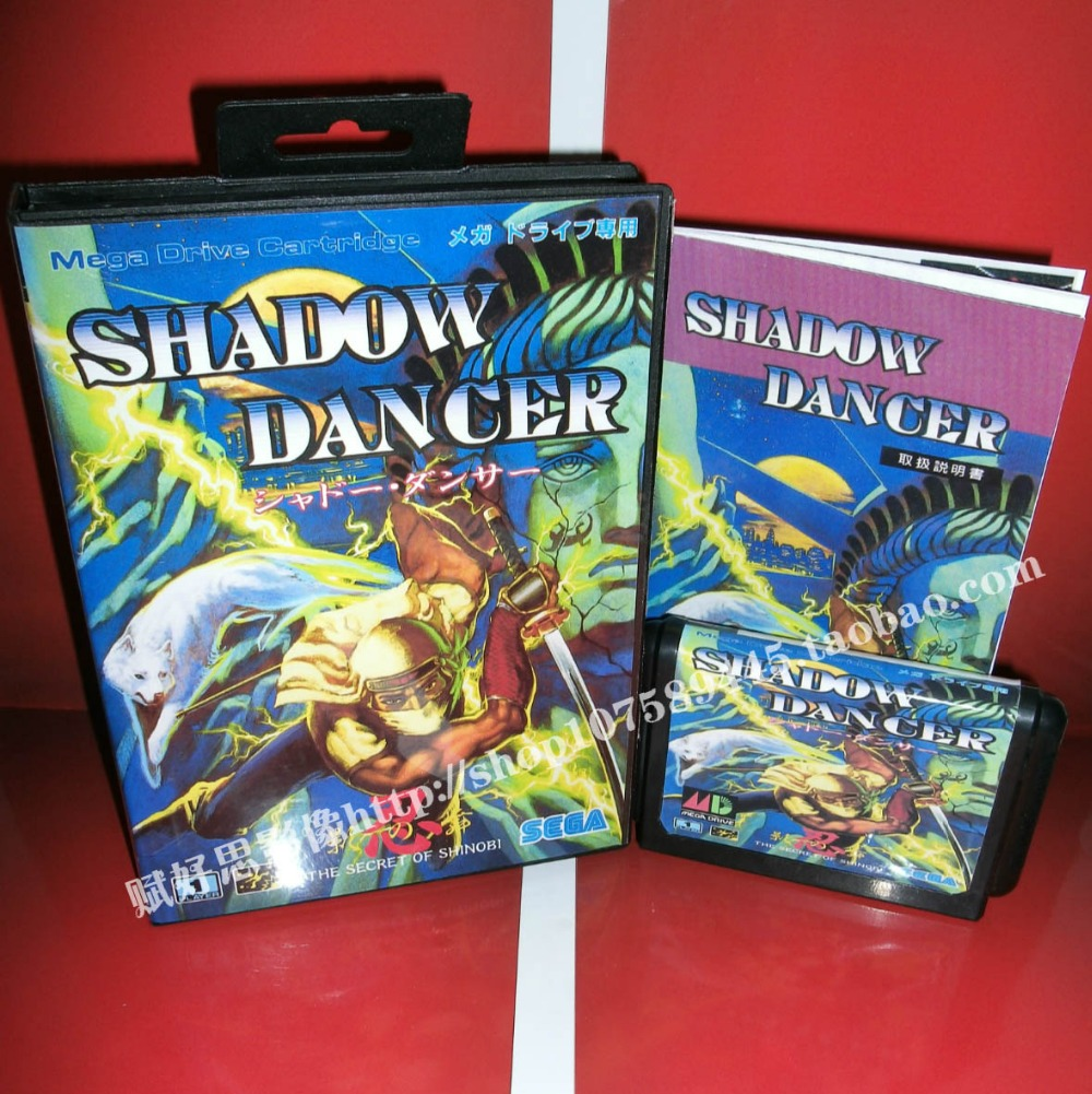 Shadow dancer Game cartridge with Box and Manual 16 bit MD card for Sega Mega Drive for Genesis