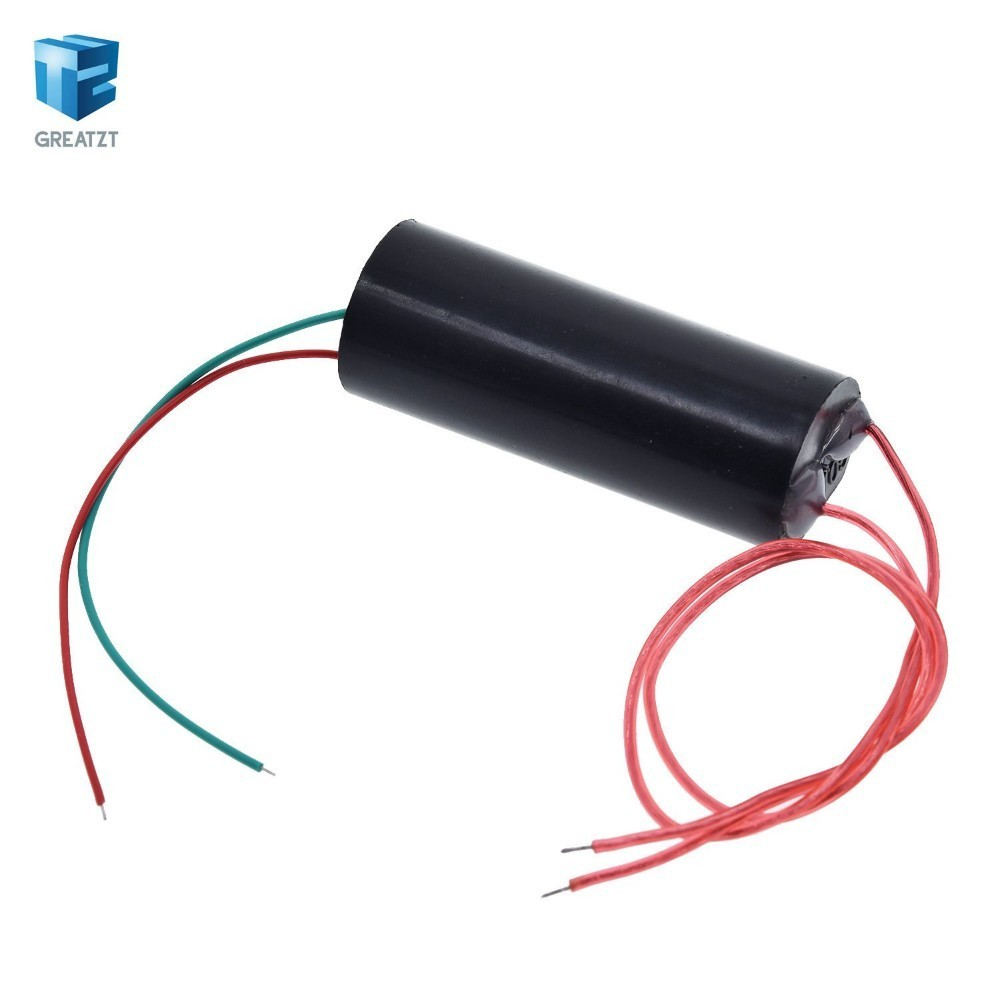 50KV High Voltage Pulse Arc Generator Inverter Step Up Boost Transformer Super Arc Ignition Coil Module DC 3.7-6V To 50KV 2-3A