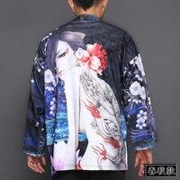 2019 new vintage japones kimono man japanese traditional dress male yukata stage costumes hombres quimono men samurai clothes