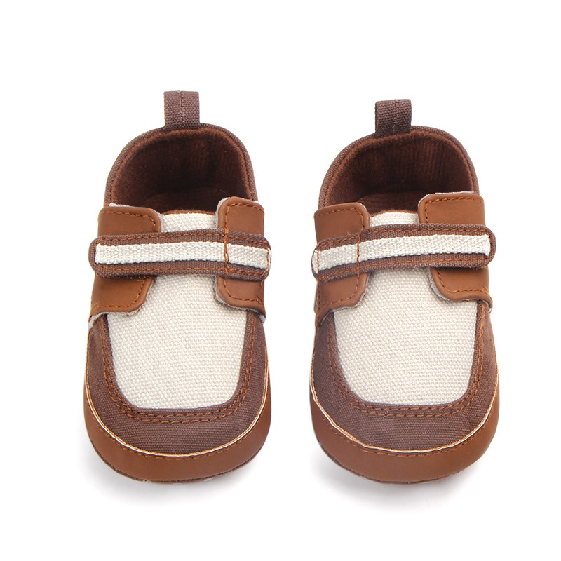 Baby Shoes Cotton Fabric Soft Sole Baby Boys Shoes Anti-slip Toddler Crib First Walkers 0-12 Months walking crib shoes