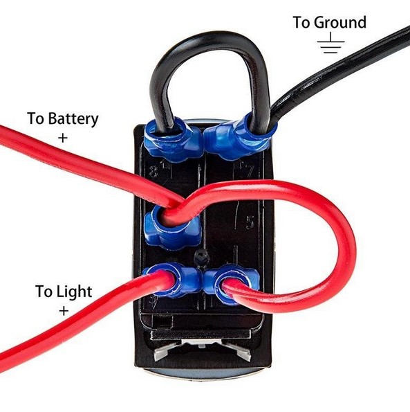 12v 24v blue led fan 5 pin on/off spst rocker switch for arb carling narva  style replacement marine grade-in car switches & relays from automobiles