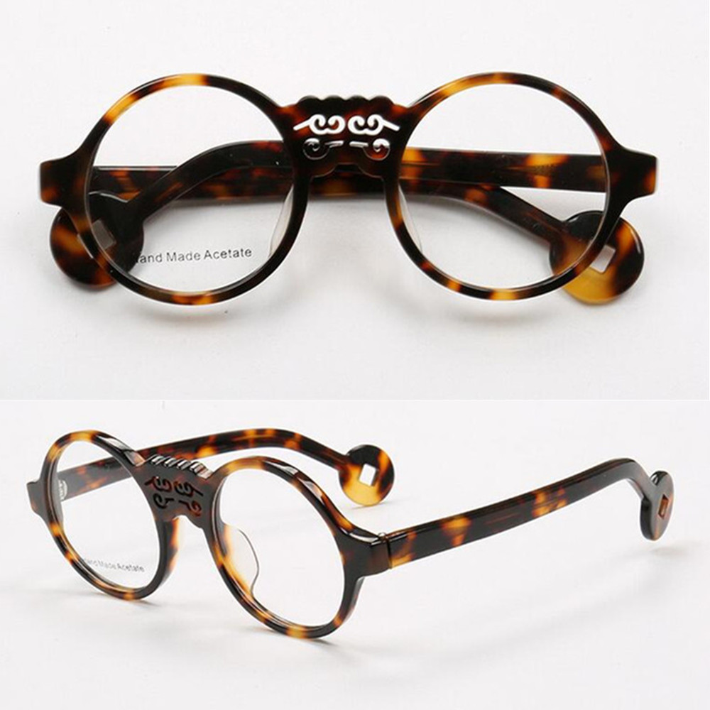 53d9865707 Vintage Round Acetate Tortoise Eyeglass Frames Full Rim Men Women Rx able  Top Quality-in Eyewear Frames from Apparel Accessories on Aliexpress.com
