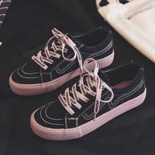 Женские холщовые кроссовки повседневная обувь с принтом на шнуровке