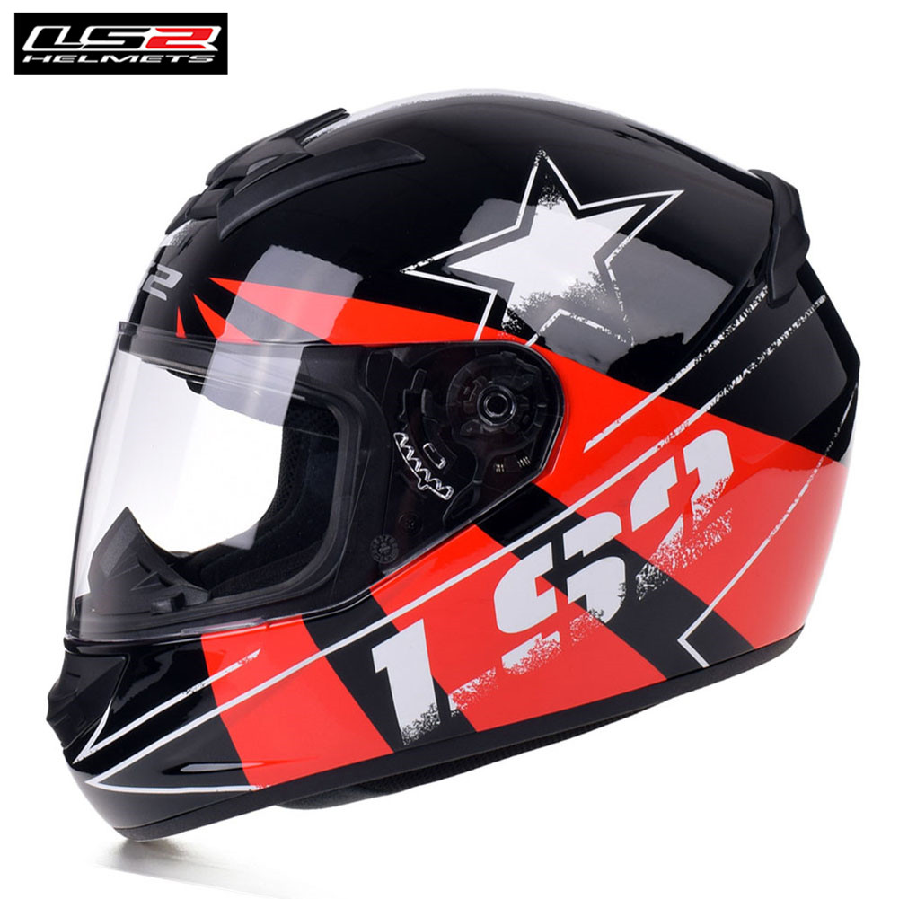 LS2 Racing Motorcycle Helmet Full Face Capacete Casque Casco Moto Helmets Kask Helm Caschi For Kawasaki Motorsiklet FF352 Rookie original ls2 ff353 full face motorcycle helmet high quality abs moto casque ls2 rapid street racing helmets ece approved