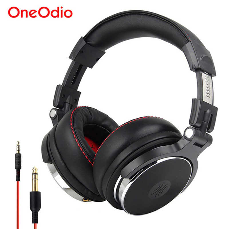 Oneodio Over Ear Gaming Headset Monitor Headphones With 3.5/6.3mm Audio Jack Deep Bass Hifi DJ Headphones With Stereo Microphone охватывающие наушники monster 24k dj over ear headphones