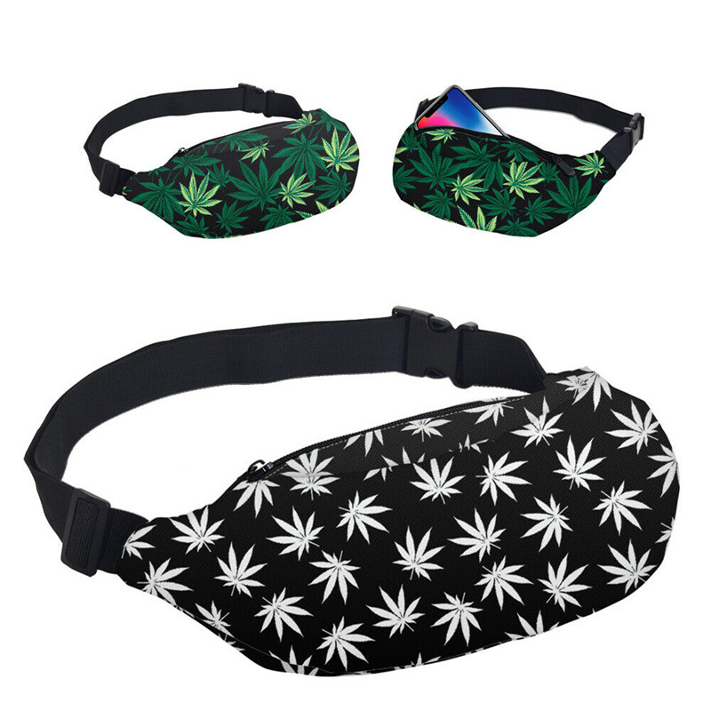 Waist-Bags Fanny Packs Banana-Pattern Printed Pack-Striped Mini Outdoors Portable