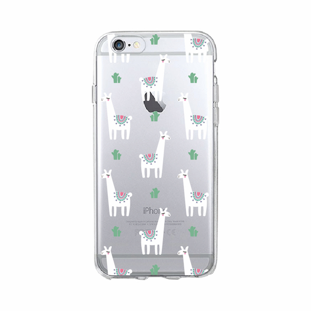For iPhone 11 Pro Max 7 7Plus 6S 6Plus 8 8Plus X XS Max Kawaii Cute Llama Alpaca Animals Cartoon Soft Printed Phone Case Cover – 2