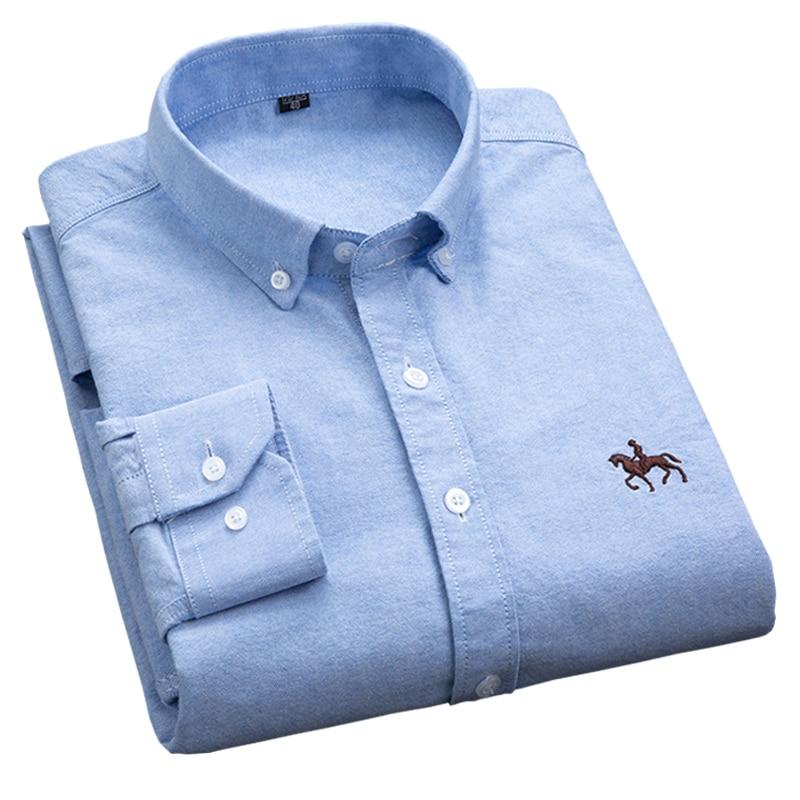 S-6XL Plus größe Neue OXFORD STOFF 100% BAUMWOLLE ausgezeichnete komfortable slim fit taste kragen business männer casual shirts tops