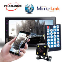 Bluetooth 2DIN Mirror For Android Phone Radio Touch Screen Support Rearview Camera Car Stereo Hand free Mirror Link Screen
