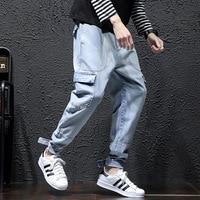 New 2019 Denim Jeans Plus Size M 5XL Harem Hiphop Mens Baggy Tapered