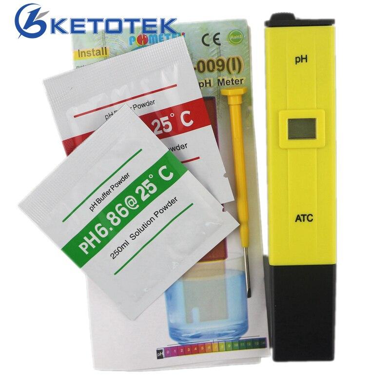 Tragbare Digitale PH-Meter Tester Stift 0,0-14,0 PH Hohe Genauigkeit für Getränke Speisen Labor PH-Monitor mit ATC