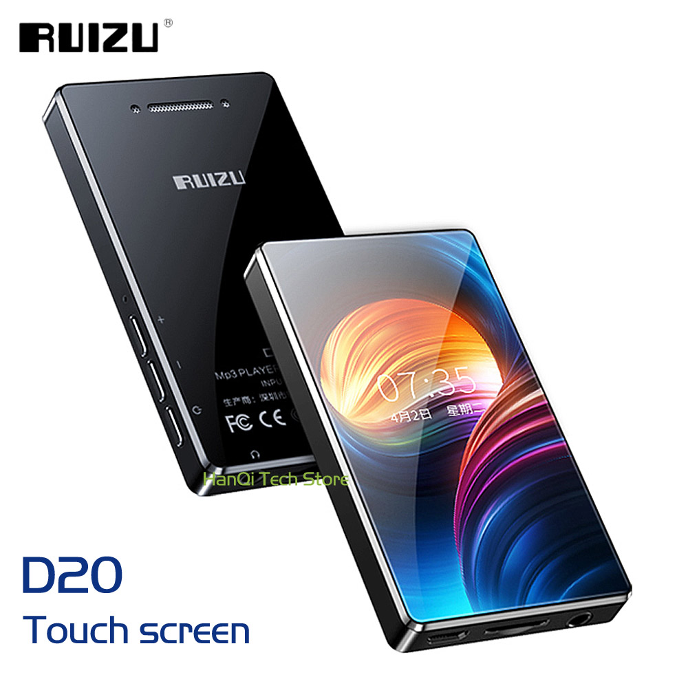 New RUIZU D20 Full Touch Screen MP3 Player 8GB Music Player Support FM Radio Recording Video Player E-book With Built-in Speaker(China)