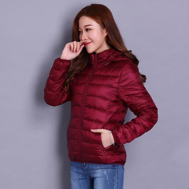 NewBang Brand 6XL 7XL 8XL Plus Size Women Duck Down Jacket Ultra Light Down Jacket Women's Hat Detachable Warm Windbreakers