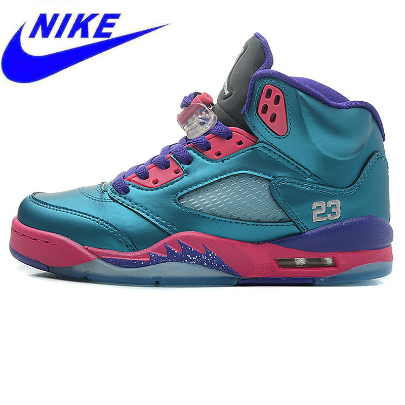 hot sale online 7be6f fd5b6 Nike Air Jordan 5 Retro GS Women s Basketball Shoes , South Coast Green,  Original Outdoor Shock-absorbing Sneakers 440892 307
