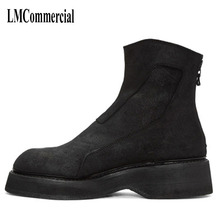British mens Europe high shoes men boots Korean fashion leather Riding spring retro breathable