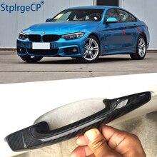 ل BMW 4 سلسلة F32 F33 F36 428i 435i 420i 440i 425i 430i 13 19 الاكسسوارات 100% ريال الكربون الألياف السيارات الخارجي الباب غطاء مقبض