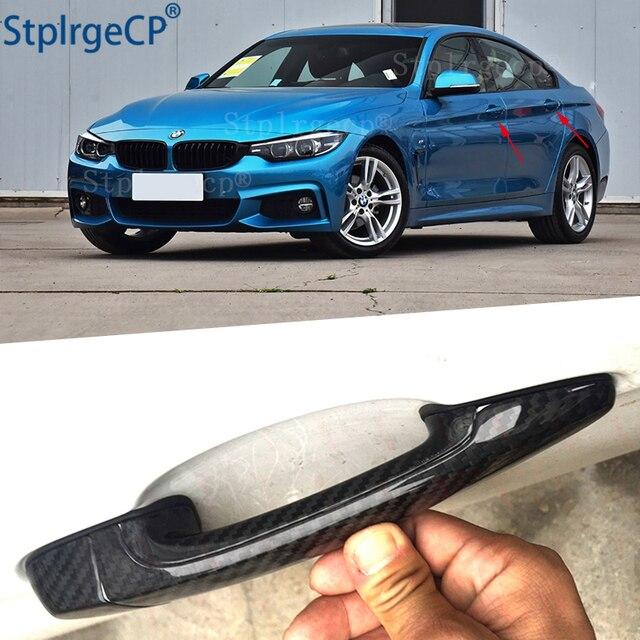 Dla BMW serii 4 F32 F33 F36 428i 435i 420i 440i 425i 430i 13 19 akcesoria 100% prawdziwe carbon z włókna zewnętrzne drzwi osłona klamki