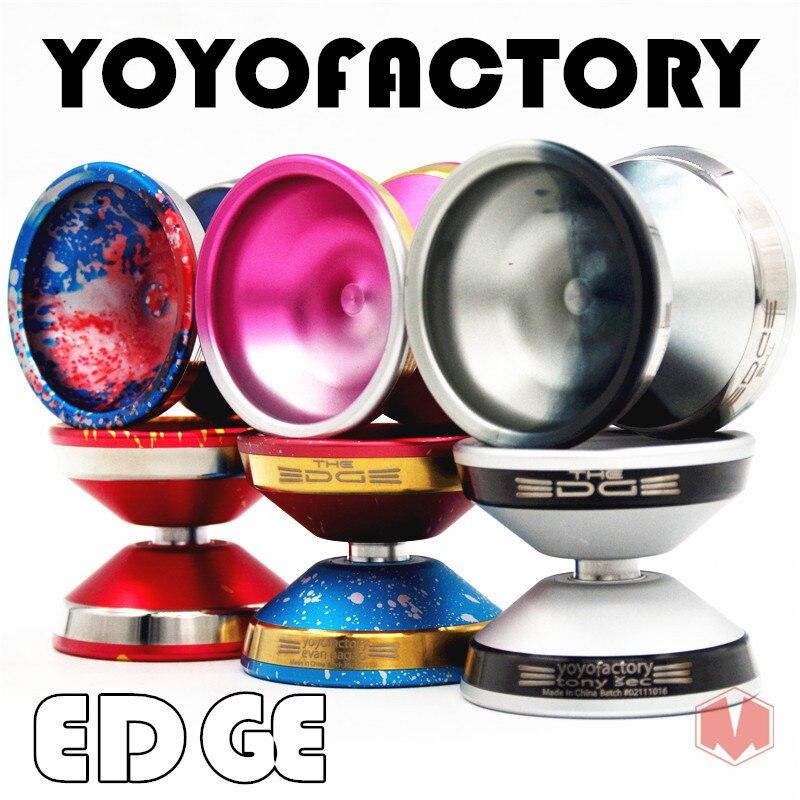 yoyofactory EDGE YYF YOYO Metal YOYO New alloy metal ring professional Competitive Yo-Yo free shipping aoda portable cool plastic alloy yo yo toy deep blue