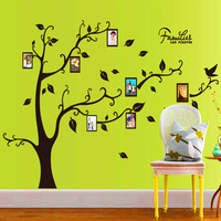 Saturday Mall 4colors New Fashion Large Frame Photo Tree Home Decor Wall Stickers Removable Wall