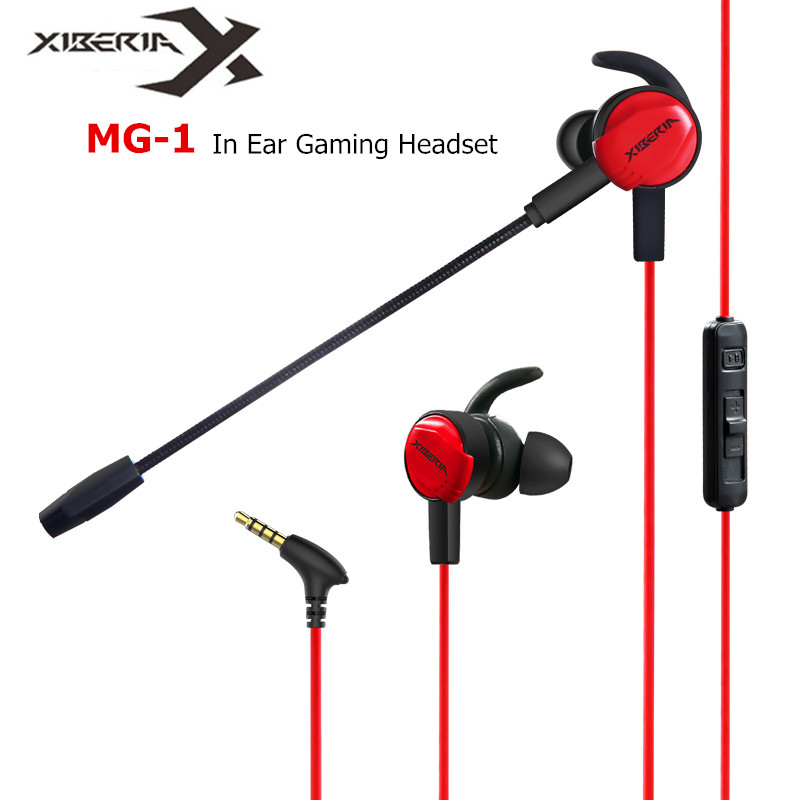 Xiberia MG-1 In Ear Gaming Headphones MG-2 PRO PC Gamer Vibration Headset Bass Casque for a Mobile Phone PS4 New Xbox 1 with Mic