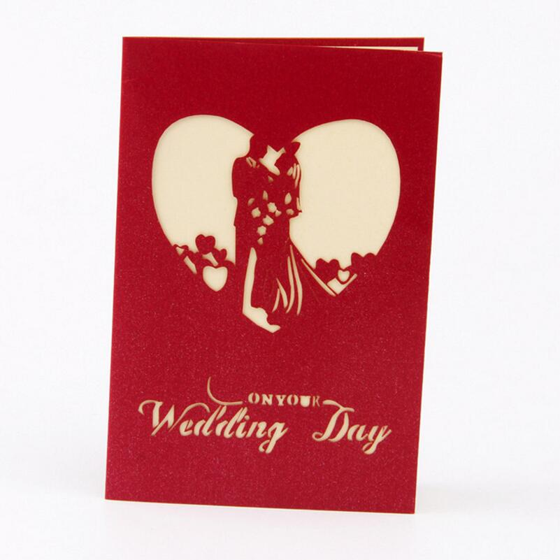 3d bride and groom handmade pop up greeting cards kirigami wedding 3d bride and groom handmade pop up greeting cards kirigami wedding card anniversary invitation card paper crafts 3pcslot in cards invitations from home stopboris Gallery