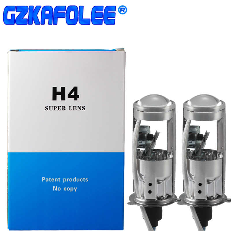 GZKAFOLEE HID H4 6000K 4300k 8000K Mini Projector Lens Bulb Hi/Lo Beam Xenon Light Type Easy To Install 55W 10000LM LHD RHD