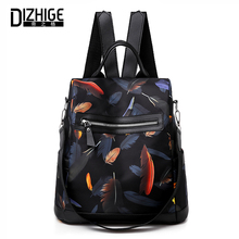 DIZHIGE Brand Waterproof Oxford Women Anti-theft Backpack High Quality School Bag For Luxury Feathers Multifunctional Bags