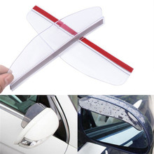 2pcs Universal Flexible PVC Rearview Mirror Rain Shade Rainproof Blades Car Accessories Car Back Mirror Eyebrow Rain Cover