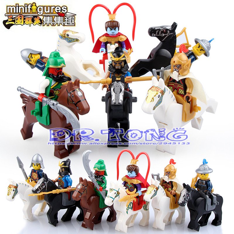 DR.TONG Enlighten 1501 A .B Figures One of the Four Great Classics of China Romance of the Three Kingdoms Building Blocks Toys