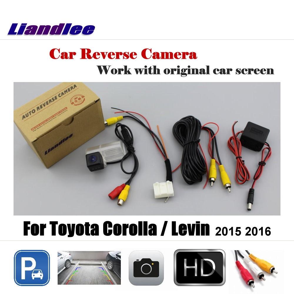 For Toyota Corolla Levin 2015 2016 Rca Original Screen Wiring Diagram Liandlee Car Rearview Reverse Parking Camera Display Hd