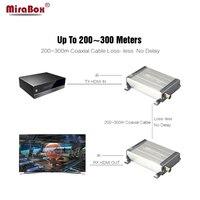 MiraBox HDMI коаксиальный Extender через коаксиальный кабель BNC Поддержка 200 300 м 1080 P без задержки ИК HDMI удлинитель через коаксиальный/коаксиальный ка