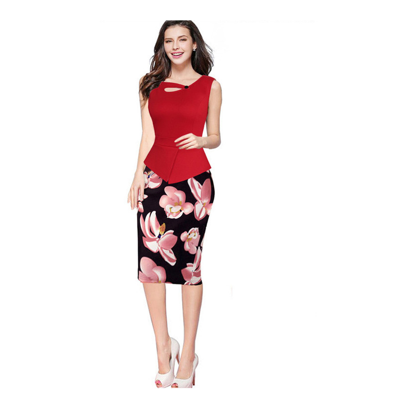 Office Dress Vestidos Vestido Cheap Clothes China De Festa Sexy Dresses Women Robe Femme Print Elegant