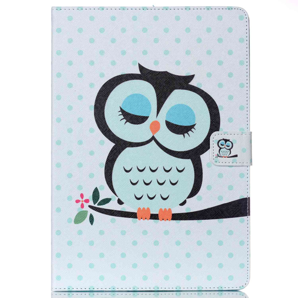 Fashion Painted Flip PU Leather For Samsung Galaxy Tab A 9.7 Case For Samsung Galaxy Tab A T550 T551 T555 Smart Case Cover
