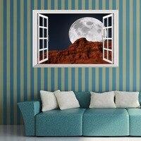 الليل kedode ميزات 3d ستيريو ملصقات الحائط غرفة المعيشة ملصقات النوافذ وهمية الزخرفية