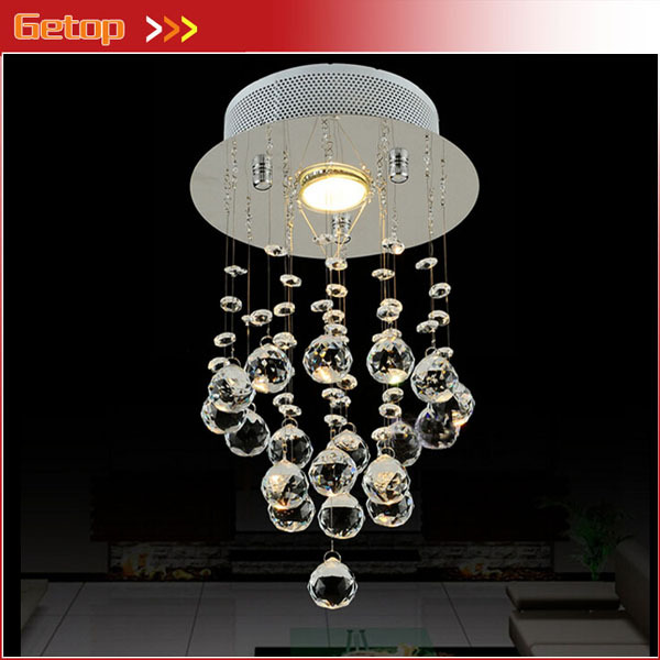 Best Price Simple Crystal Chandelier Corridor Aisle Balcony Crystal Lamp LED Home Lighting D20cm x H38cm Fashion Bar Lights gold color simple brief 5w crystal chandelier led lamp for home aisle meeting room bar cloth shops 5w chandelier 6000k 2800k