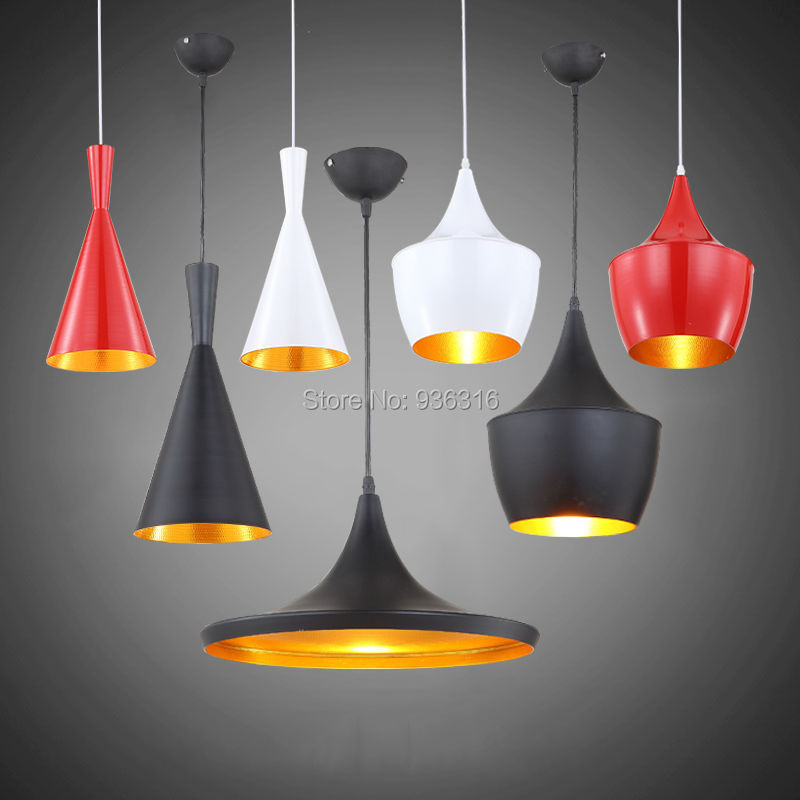 Blueking North Europe Modern Tom beat instrument aluminum pendant lights 3 lights per set White/Black/Red Home Deco Pendant lamp