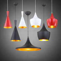 North Europe Modern Tom Beat Instutment Aluminum Pendant Lights 3 Lights Per Set White Black Red
