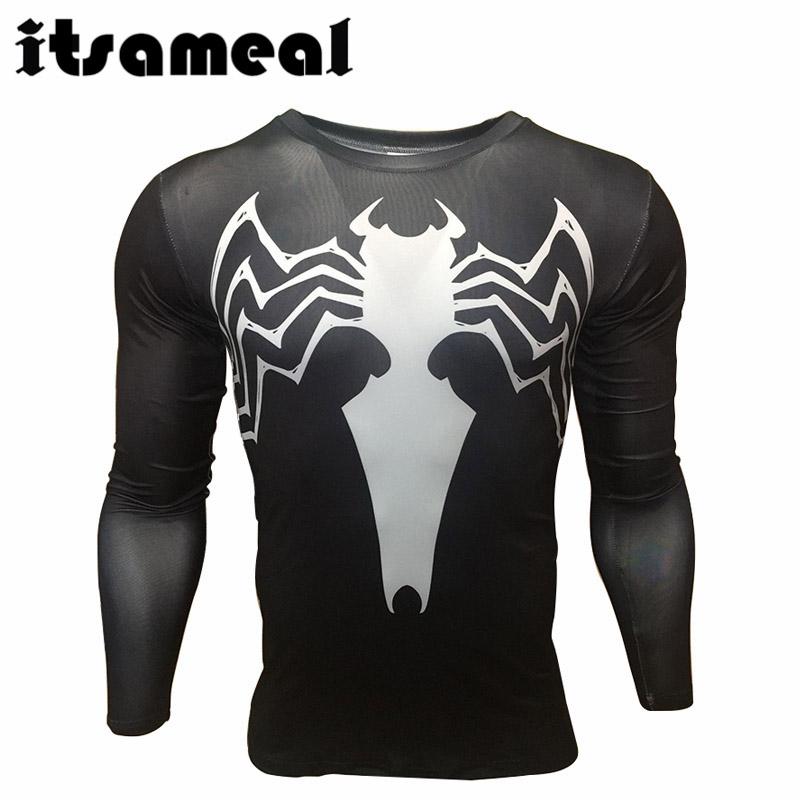 9817d0885f Spiderman Lycra camisa de compresión hombres 3D impreso camisetas ...