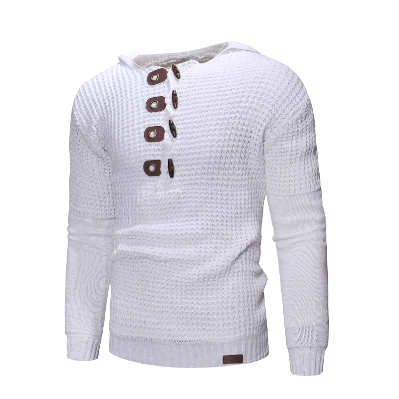 138ac586e1c 2019 Sweater Men 2018 Mens Button Wool Sweater Pullover Long Sleeve ...