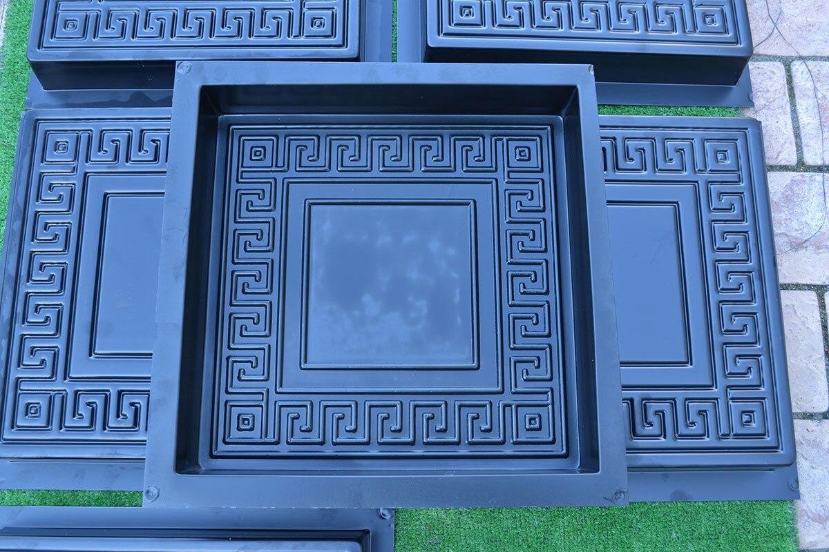 5 Pieces/lot Plastic Garden Cement Brick Molds Casting Concrete Paving Stepping  Stone Maker Mold
