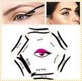 1 pc Super estilo delineador kit 6 modelo para sobrancelhas template stencil maquiagem dos olhos um guia cartão diy