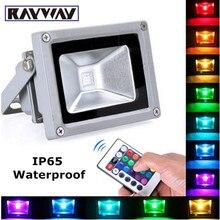 RAYWAY IP65 LLEVÓ la luz de Inundación 10 W 20 W 30 W RGB led luz de inundación Del Punto de luz de la calle Con mando a distancia IR Al Aire Libre proyector