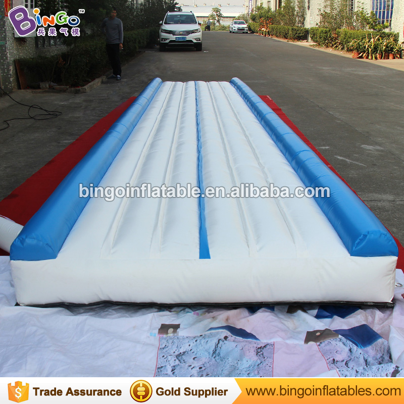 30ft*7ft*1ft PVC Summer inflatable gym mat jumping mat airtrack for gym / tumble track trampoline for sale sport toy funny summer inflatable water games inflatable bounce water slide with stairs and blowers
