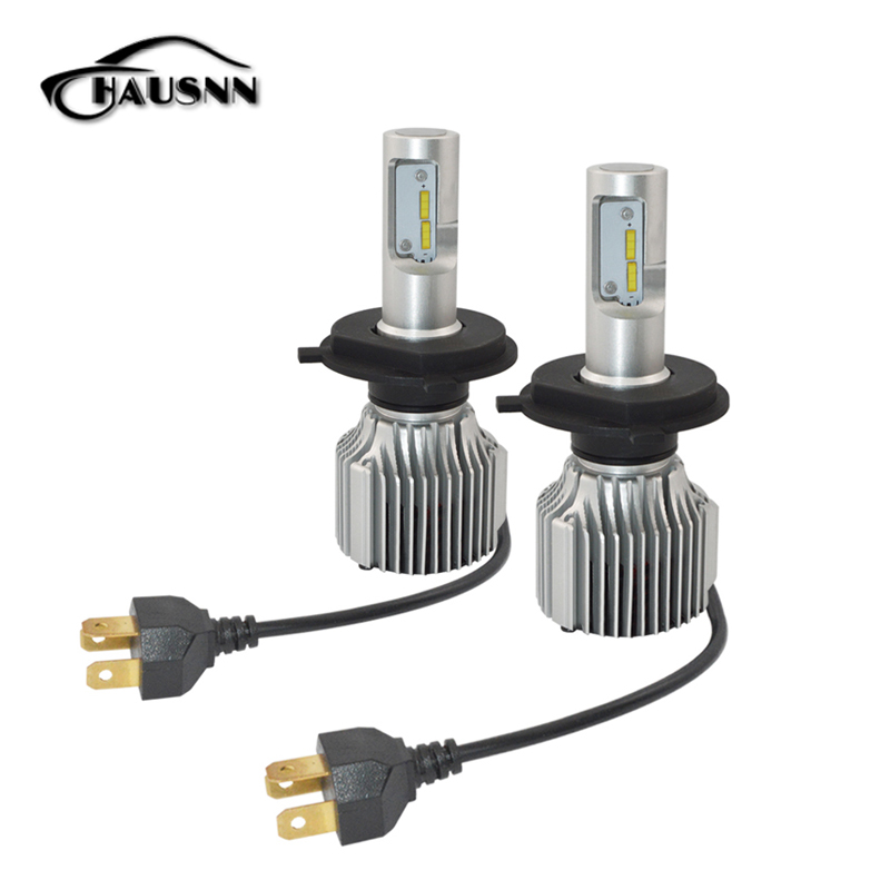2Pcs/Pair Car LED Headlight High Low Beam Auto Fog Lamp for H4/9003/HB2 Hi/Lo Head Lamp Bulbs White Color 72W 8000 LM 1 pair dc 9 36v h4 cob 80w led car headlight kit hi lo beam bulbs 6000k